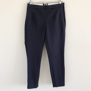 J. Crew Martie Navy Cotton Stretch Slim Crop Pants